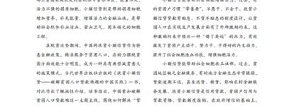 林毅夫:将小额信贷打造成乡村振兴的细胞工程